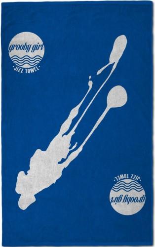 Grooby Jizz Towel (Blue)