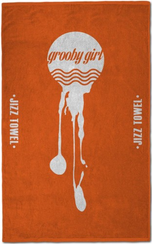 Grooby Jizz Towel (Orange)