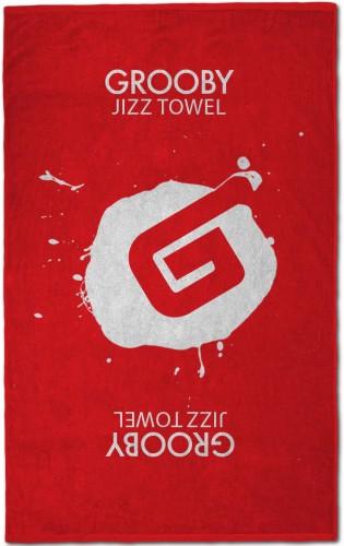 Grooby Jizz Towel (red)