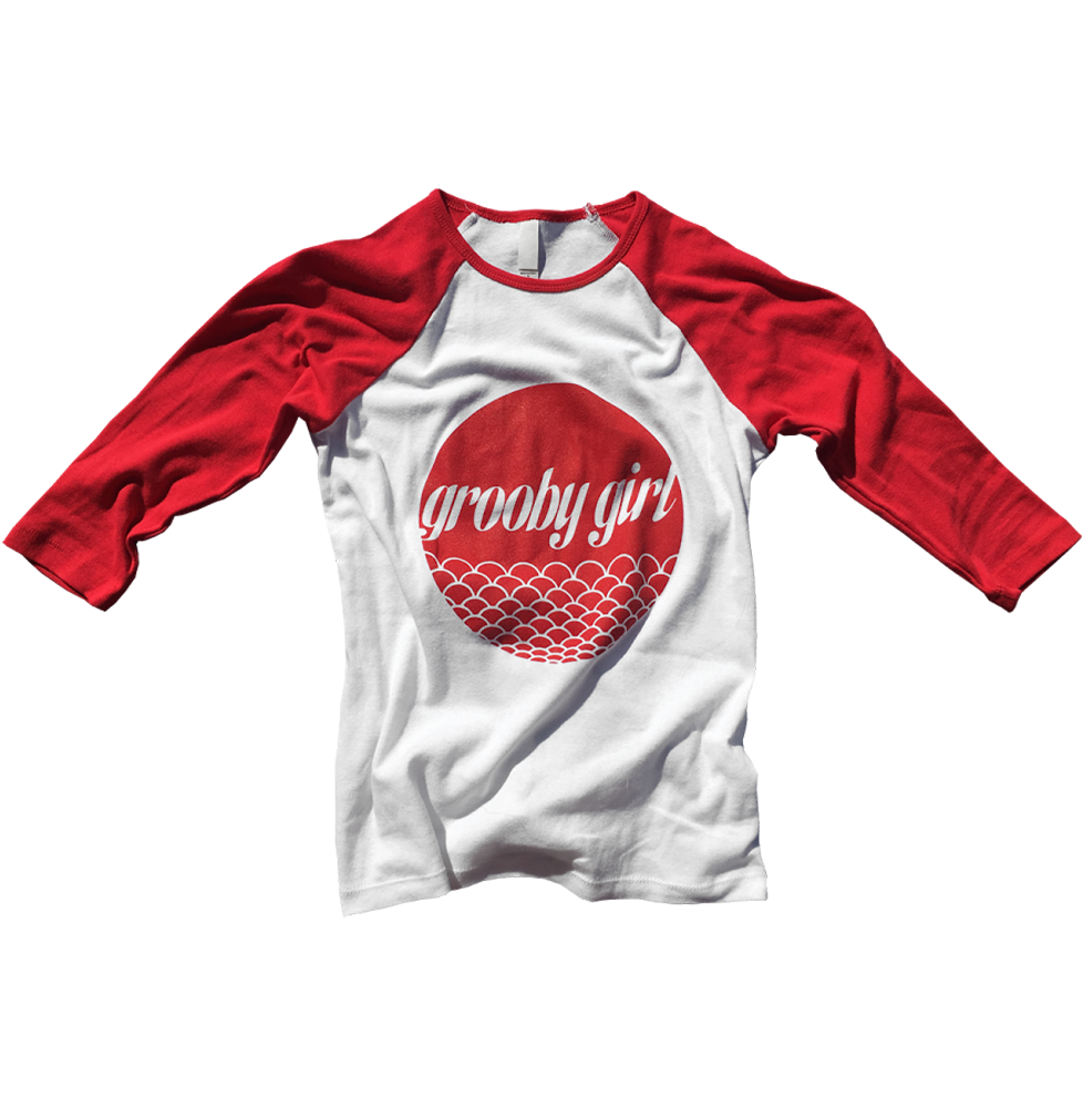Grooby Girl Baseball Tee Red White Size M Grooby Store
